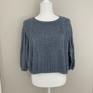 CAbi Short and Sweet Cable Knit Sweater Size S
